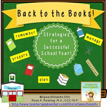 """""""Back to the Books"""" Game {Strategies for a Successful Scho"""