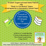 Back to School Bundle:Student Organizer&Executive Functioning (Older Students)