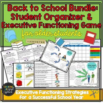 Back to School Bundle:Student Organizer&Executive Functioning (Older Students)