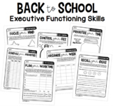 Executive Functioning Skills Worksheets | Back to School