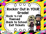 Back to School Exit Tickets for Routines and Procedures Rock and Roll Rock Star