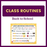 Back to School Expectations - Lunch and Recess