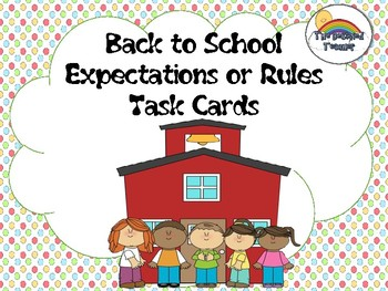 Back to School Expectations Rules Bullying Task Card Activity Game BUNDLE