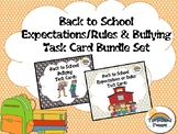 Back to School Expectations Rules Bullying Task Card Activ