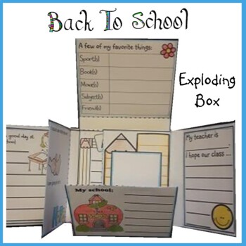 Back to School Exploding Box