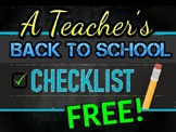 Back to School FOR THE TEACHER - first days organization