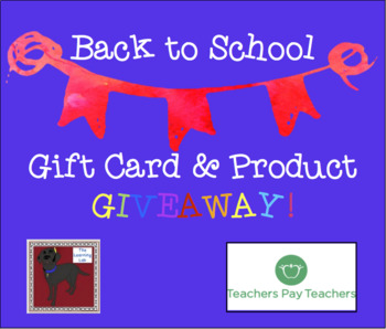 Back to School FREE Giveaway: Enter to WIN a $10 TPT Gift Card