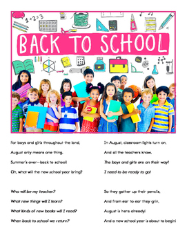 Back to School (FREE POEM)