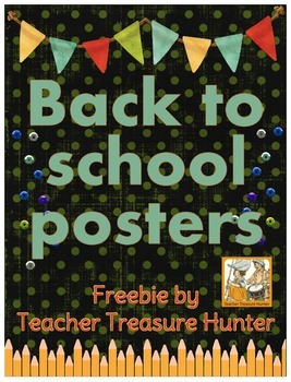 Back to School FREE Posters ~ I'm a .... grader first grade 2nd grade 3rd grade