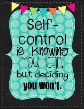 FREE Back to School Subway Art:  Self-Control & Accountability