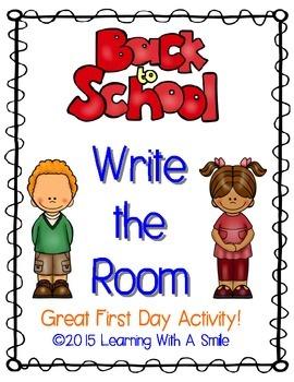 Back to School FREEBIE Write the Room ~ Fun Activity!