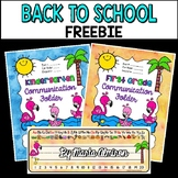 Back to School FREEBIE #1 {Flamingo Binder/Floder Covers a