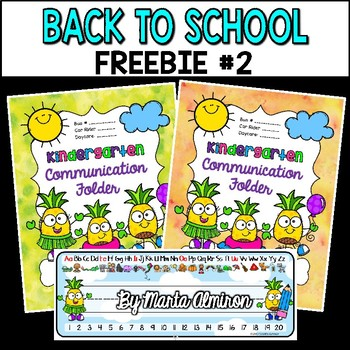 Back to School FREEBIE #2 {Pineapple Binder/Folder Covers and Desk Plates}