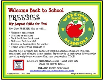Back to School Activities - FREEBIE