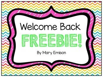 Back to School FREEBIE!