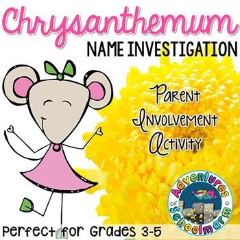 Back to School Activity Chrysanthemum | FREE Parent Involvement Resource