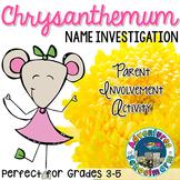 Back to School Activity Chrysanthemum | FREE Parent Involv