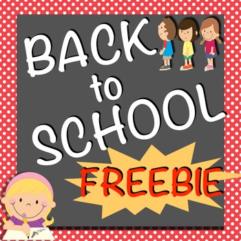 Back to School Spatial Concepts FREEBIE