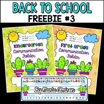 Back to School FREEBIE #3 {Cactus Binder/Folder Covers and Desk Plates}