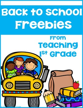 Back to School- FREEBIE