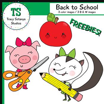 Back to School FREEBIE Clipart Set {Tracy Sztanya Studios}