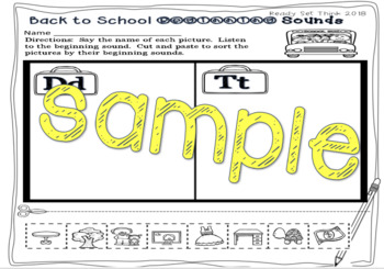 Back to School FREEBIE (First Grade Math and Literacy)