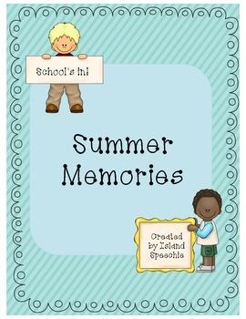 Back to School FREEBIE!!!!  Summer Memories :)