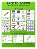 Back to School / La rentrée FRENCH Games, Workbook & SmartNotebook Pack