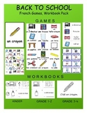 Back to School / La rentrée FRENCH Games, Workbook & Smart