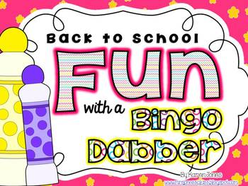 Back to School FUN with a Bingo Dabber! {Letter, Number, &