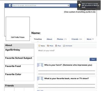 Back to School Facebook Activity