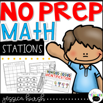 No Prep Math Stations - Back to School