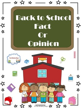 Back to School Fact or Opinion Task Card