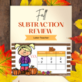 Back to School Fall 3-Digit Subtraction Review With and Without Regrouping