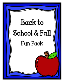 Back to School & Fall Fun Pack