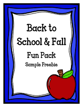 Back to School & Fall Fun Pack Sample Freebie