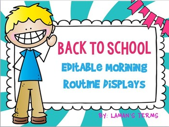 Back to School & fall themed Editable Morning Routine Displays