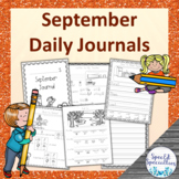 Back-to-School & Fall Journal Writing for Special Education - August / September