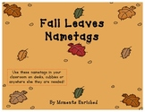 Back to School Fall Name Tags