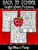 Back to School / Fall Sight Word Coloring Pictures Bundle 2
