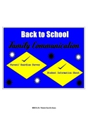 Back to School: Family Surveys (Parental Involvement)