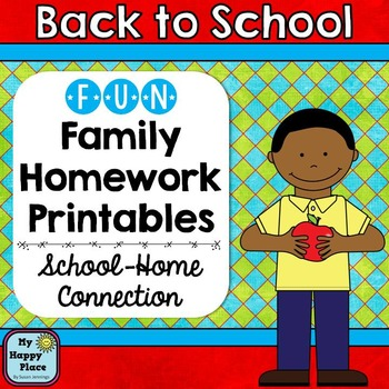 Back to School Family Homework: All About Me