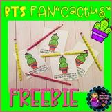 Back to School Fan Cactus FREEBIE