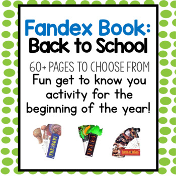 Back to School Fandex: Writing Get-To-Know You Activity
