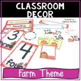 Back to School Classroom Decor Farm Theme