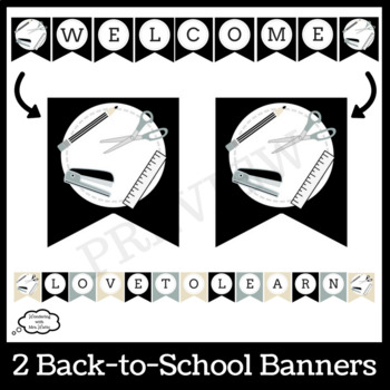 Back to School Farmhouse Door Décor Kit with Writing Prompts