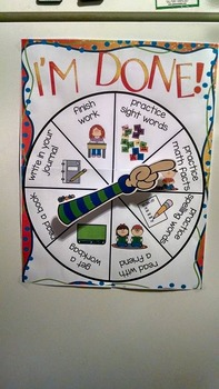Back-to-School Fast Finisher Activities Choice Board