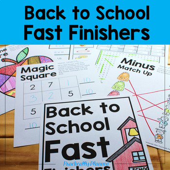 Back to School Fast/Early Finishers