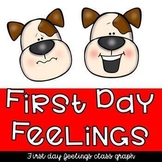 Back to School Feelings Class Graph and Activity for Preschool and Kindergarten