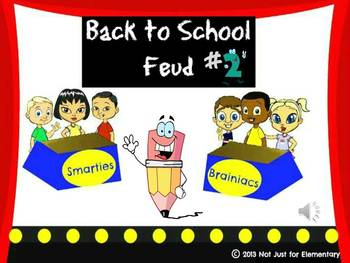 Back to School Feud #2 Powerpoint Game